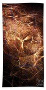 Abstract Angels Burning Sepia Beach Towel
