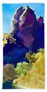 Abstract Arizona Mountain Peak In Autumn Beach Towel