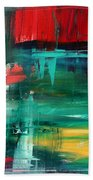 Abstract Art Colorful Original Painting Bold And Beautiful By Madart Beach Towel