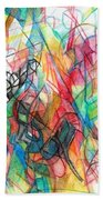 Abstract Art Focused Inward Towards The Divine 4 Beach Towel