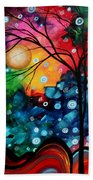 Abstract Art Landscape Tree Painting Brilliance In The Sky Madart Beach Towel