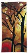 Abstract Art Original Landscape Painting Catch The Rising Sun By Madart Beach Towel