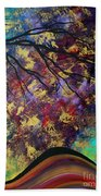 Abstract Art Original Landscape Painting Go Forth IIi By Madart Studios Beach Towel