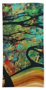 Abstract Art Original Landscape Wild Abandon By Madart Beach Towel