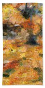 Abstract Autumn 1 Beach Towel