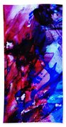 Abstract Blue And Pink Festival Beach Towel by Andrea Anderegg