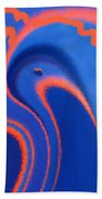 Abstract Blue Bird Beach Towel