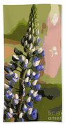 Abstract Blue Lupine Beach Towel