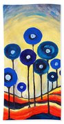 Abstract Blue Symphony  Beach Towel