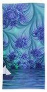 Abstract Blue World Beach Towel