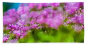 abstract Blurry pink flower background for backgrounds Beach Towel