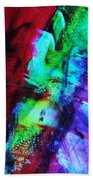 Abstract Bold Colors Beach Towel by Andrea Anderegg