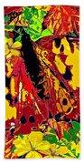 Abstract Butterfly #3 Autumn Beach Towel