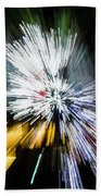 Abstract Christmas Lights - Burst Of Colors Beach Towel