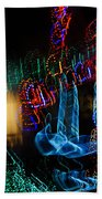 Abstract Christmas Lights - Color Twists And Swirls  Beach Towel