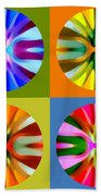 Abstract Circles And Squares 1 Beach Towel