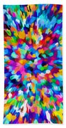 Abstract Colorful Splash Background 1 Beach Towel