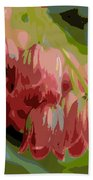 Abstract Coral Bells Beach Towel