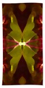Abstract Crystal Butterfly Beach Towel