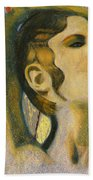 Abstract Cyprus Map And Aphrodite Beach Towel