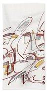 Abstract Drawing Fifteen Beach Towel