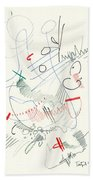 Abstract Drawing Fifty-five Beach Towel