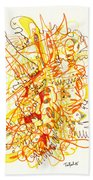 Abstract Drawing Fifty-three Beach Towel