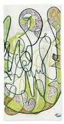 Abstract Drawing Forty-four Beach Towel