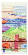 Abstract Drawing Four Beach Towel