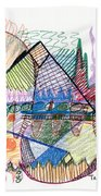 Abstract Drawing One Beach Towel