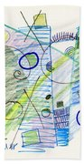 Abstract Drawing Seven Beach Towel