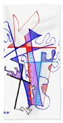 Abstract Drawing Sixty-nine Beach Towel