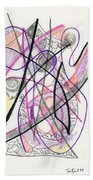 Abstract Drawing Twenty-six Beach Towel