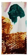 Abstract-duck-dancing Bear And Buffalo Beach Towel