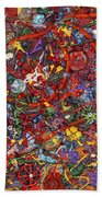 Abstract - Fabric Paint - Sanity Beach Towel by Mike Savad