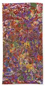 Abstract - Fabric Paint - String Theory Beach Towel by Mike Savad