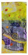 Abstract - Falling Leaves Beach Towel
