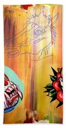 Abstract Flash  Beach Towel