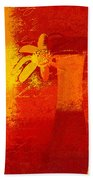 Abstract Floral - 6at01a Beach Towel