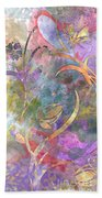 Abstract Floral Designe - Panel 1 Beach Towel