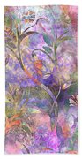 Abstract Floral Designe  Beach Towel