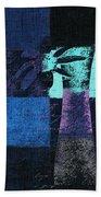 Abstract Floral - H15bt3 Beach Towel
