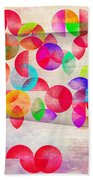Abstract Floral  Beach Towel by Mark Ashkenazi