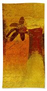 Abstract Floral - P01bt01c11c Beach Towel