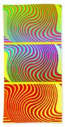 Abstract Fusion 205 Beach Towel