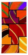 Abstract Fusion 232 Beach Towel