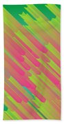 Abstract Glowing Structures Beach Towel