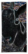 Abstract Goat Beach Towel