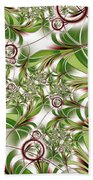 Abstract Green Plant Beach Towel