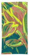 Abstract - Hostatakeover Beach Towel